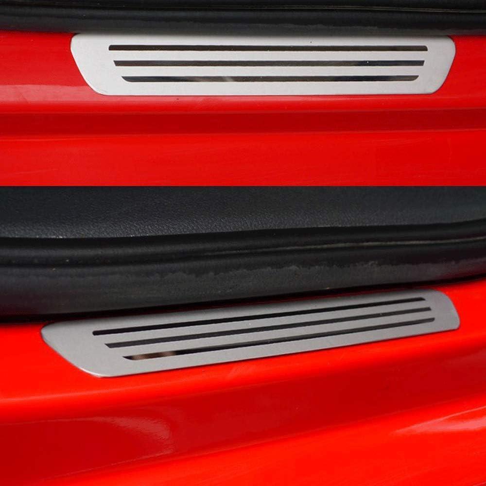 per VW Volkswagen Polo 2009 2010 2011 2012 Auto Pedale Calci Scuff Benvenuto Threshold Bar Striscia Protezione Accessori Decorativi Acciaio Inossidabile N//A 4 Pezzi Soglia Porta Battitacco