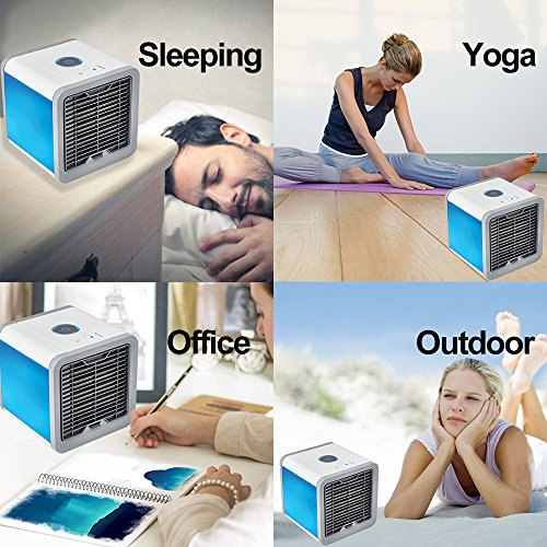 Air Conditioner Portable Air Conditioner Personal Space Air Cooler Mini Portable Space Air Conditioner, Portable Space Cooler for 45 Square Feet, Desk Table Fan for Office Home Outdoor by PLZ (Image #2)