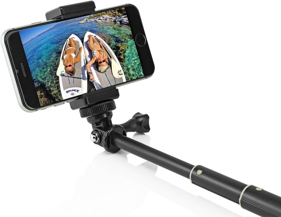 Sony Action Cam und Smartphone //3//2 Aluminium Selfie Stick Stange f/ür GoPro Hero Session Hero 4 Hero 3