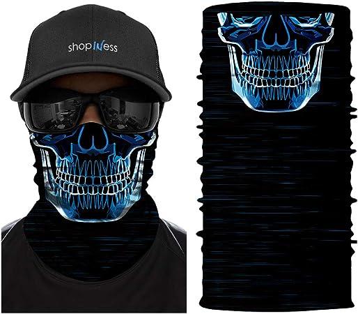 TOMKEY Facial Bandanas /Écharpe Multifonctionnelle Sports de Plein Air Cache-Cou Cagoule pour Hommes et Femmes Valorant