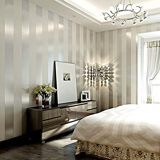 Lxpagtz Simple Modern Nonwoven Wallpaper Bedroom Living Room White