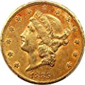1885 CC $20 Liberty Gold Twenty Dollar AU53 PCGS\CAC