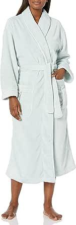 Majestic International Women's Darlington Plush Fleece Shawl Robe
