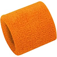 Hanerdun Wrist Sweatbands Thick Cotton Terry Cloth Wristbands For Men And Women Athletic Sweat Bands For Sports Tennis…
