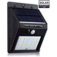 20/54/90 LED Solar Powered PIR Motion Sensor Light Garden Outdoor Security Lights (20LED-1Pack)