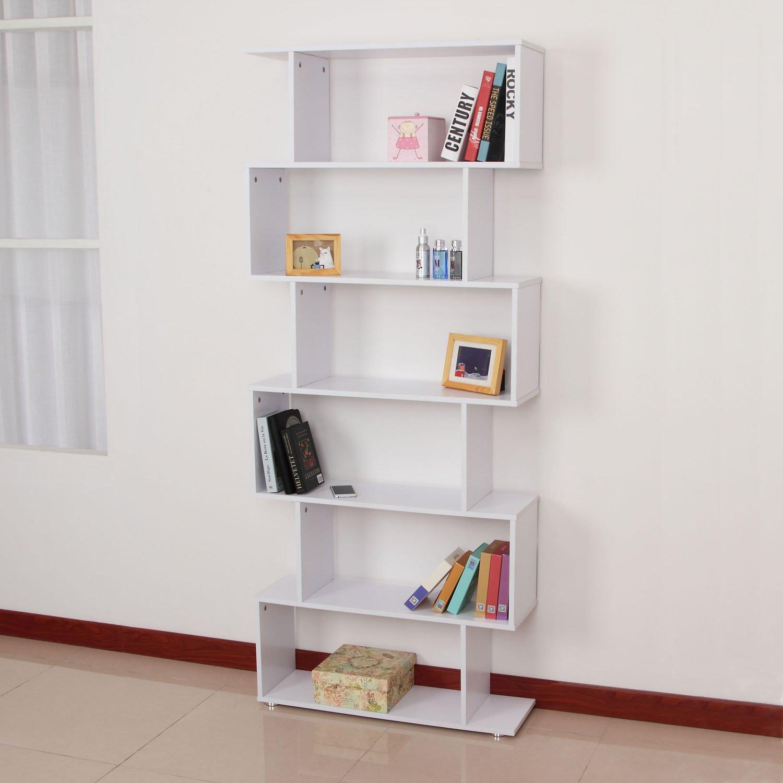Homcom - Libreria di Design Mobili Ufficio Scaffale in Legno ...