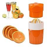 ScentRose® Citrus Orange Juicer Lemon Squeezer, Manual Hand Juicer with Strainer and Container, for Lemon,Orange,Lime,Citrus(Orange Color)