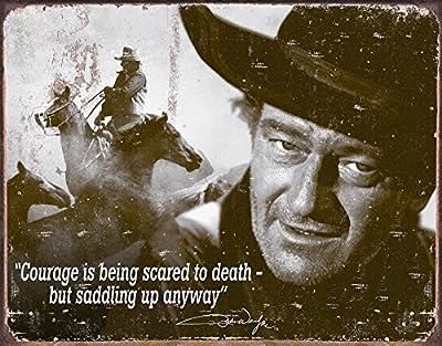 John Wayne Courage Classic Old Fashioned Vintage Advertising Metal Tin Sign 8x10