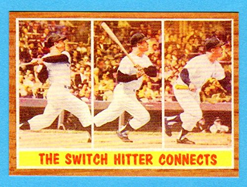 Mickey Mantle 1962 Topps Baseball (The Switch Hitter Connects) Reprint Card (Yankees)