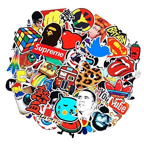 SuprCool 200-Pack Latest Style Stickers - Laptop Cellphone Pad Skateboard Luggage Car Motorcycle Bicycle - Random Sticker Set