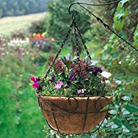 New Metal Hanging Planter Coconut Basket Round Steel Wires Plant Holder Decor Hanging Flower Pots Outdoor Hanging Baskets Garden Pots & Planters Home & Garden