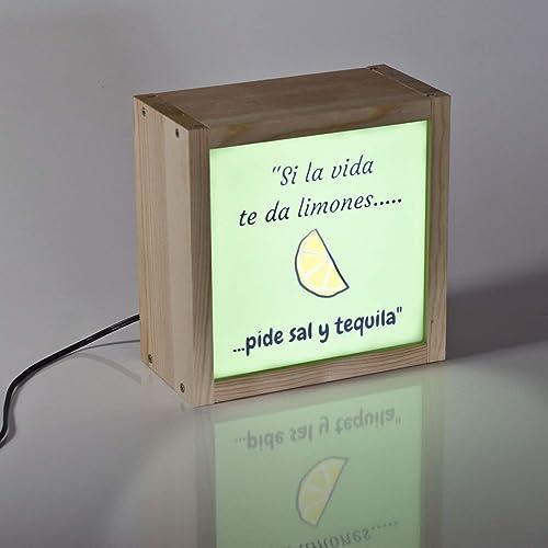 Caja de luz Lightbox decorativa, mensaje con luz led -18x81x9,50cm. -