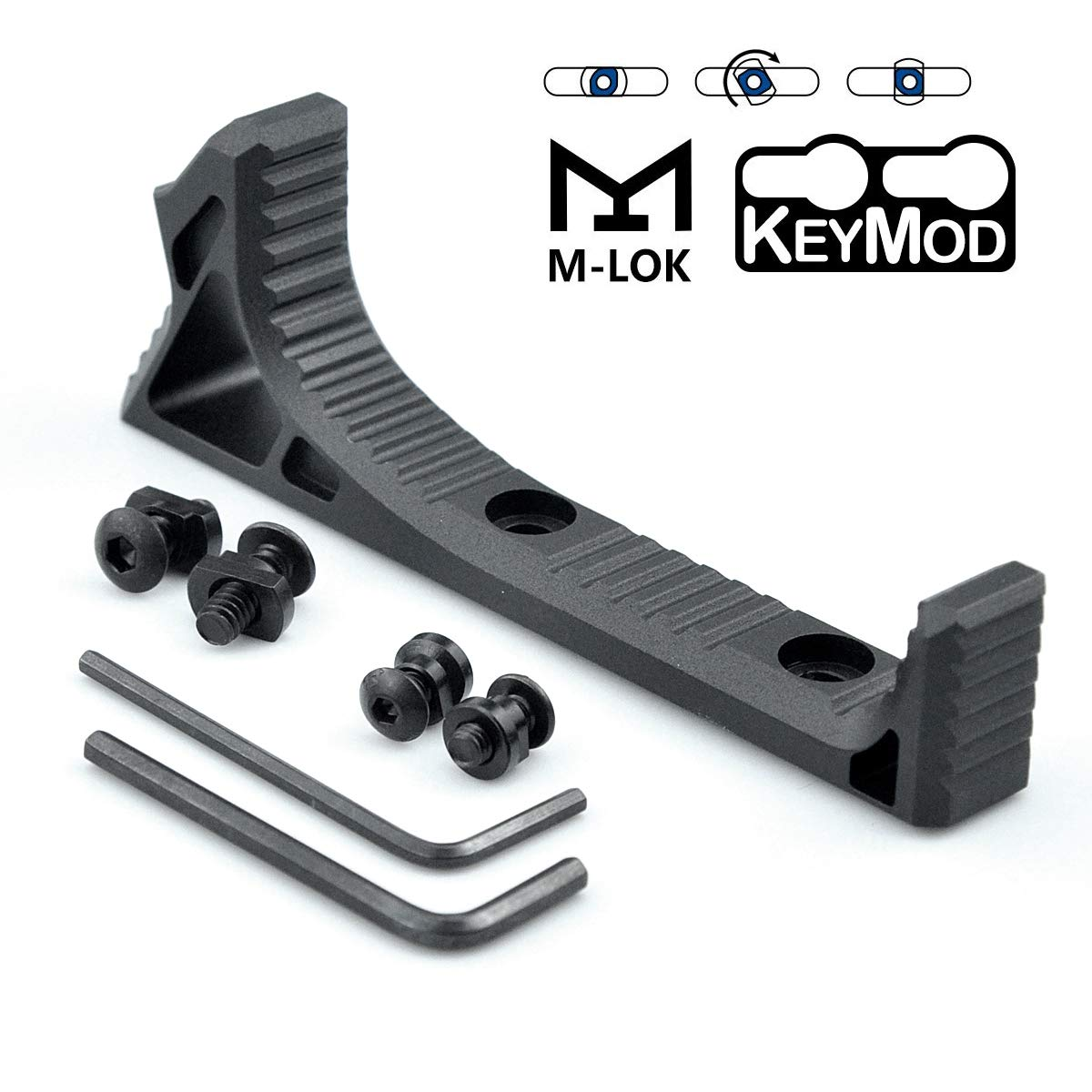 Binsin Aluminum Picatinny Rail Section Accessories for Mlok Keymod System by Binsin