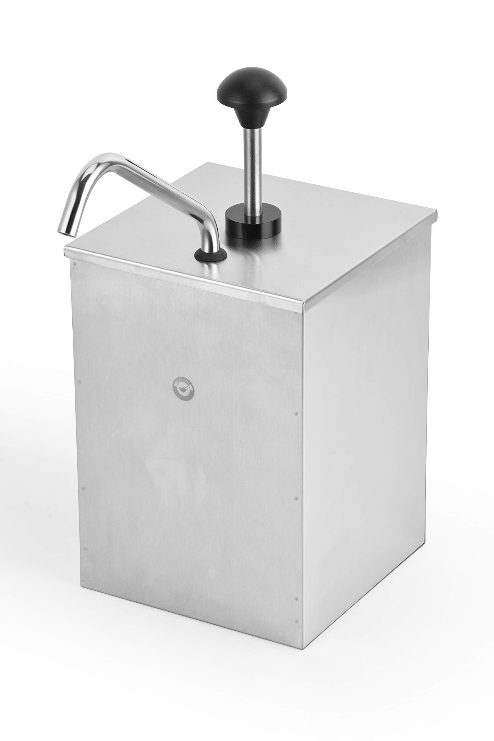 ChefMaid Stainless Steel Condiment Pump Single Head Sauce Dispenser Pump Dispense Kitchen Restaurant by ChefMaid