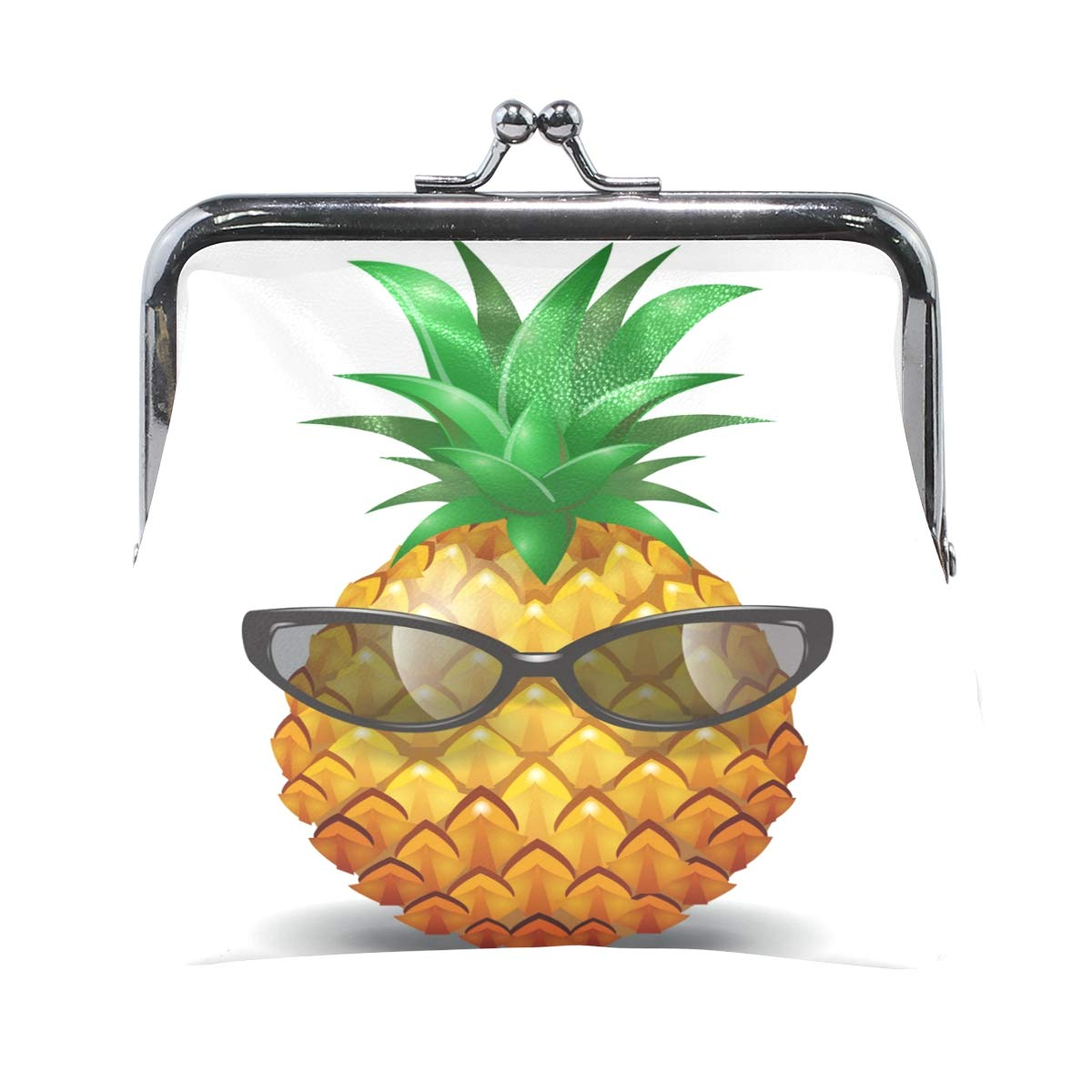 Ethel Ernest Pineapple Wearing Sunglasses Coin Wallets Mini Purse for Womens Girls Ladies