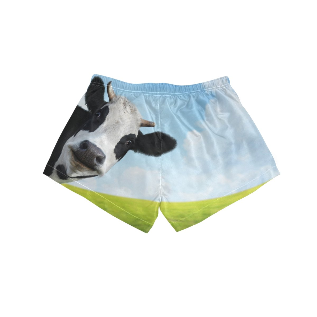 Cooper girl ALAZA Funny Cow Womens Shorts Beach Summer Drawstring Casual Shorts