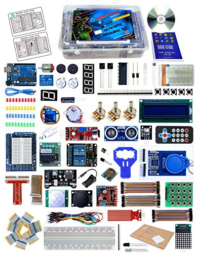 QuadStore(TM) - Ultimate Kit for Arduino with Uno R3, Printed Book and Circuit (Professional (4wd Starter)
