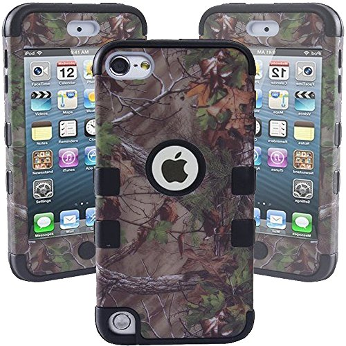 Kecko Defender Dual Layer Realtree Camo Pink Tree Hybrid Fit Case for ipod Touch 5th Generation - Berd Black