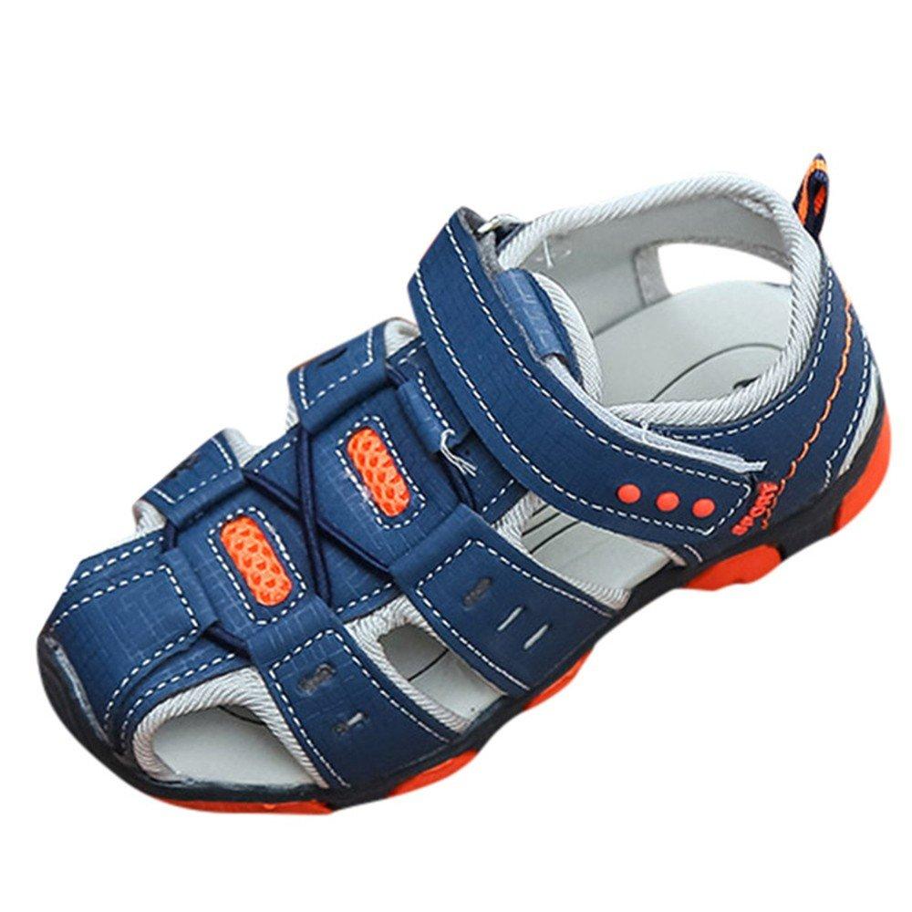 468ec89de7982 Amazon.com: Cloudro Summer Sandals Little Boy Rubber Closed Toe ...