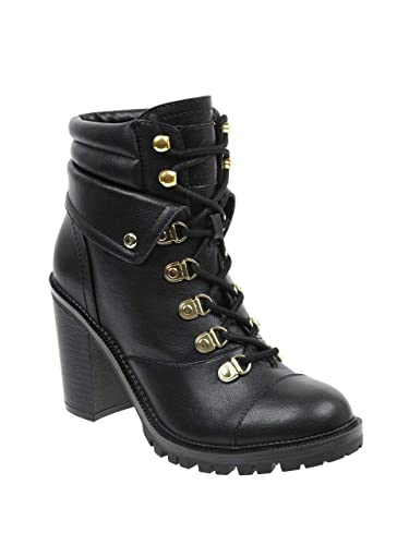 96485c1dc65f0 Amazon.com | G by GUESS Women's Jollyn Heeled Hiker Boots | Ankle ...