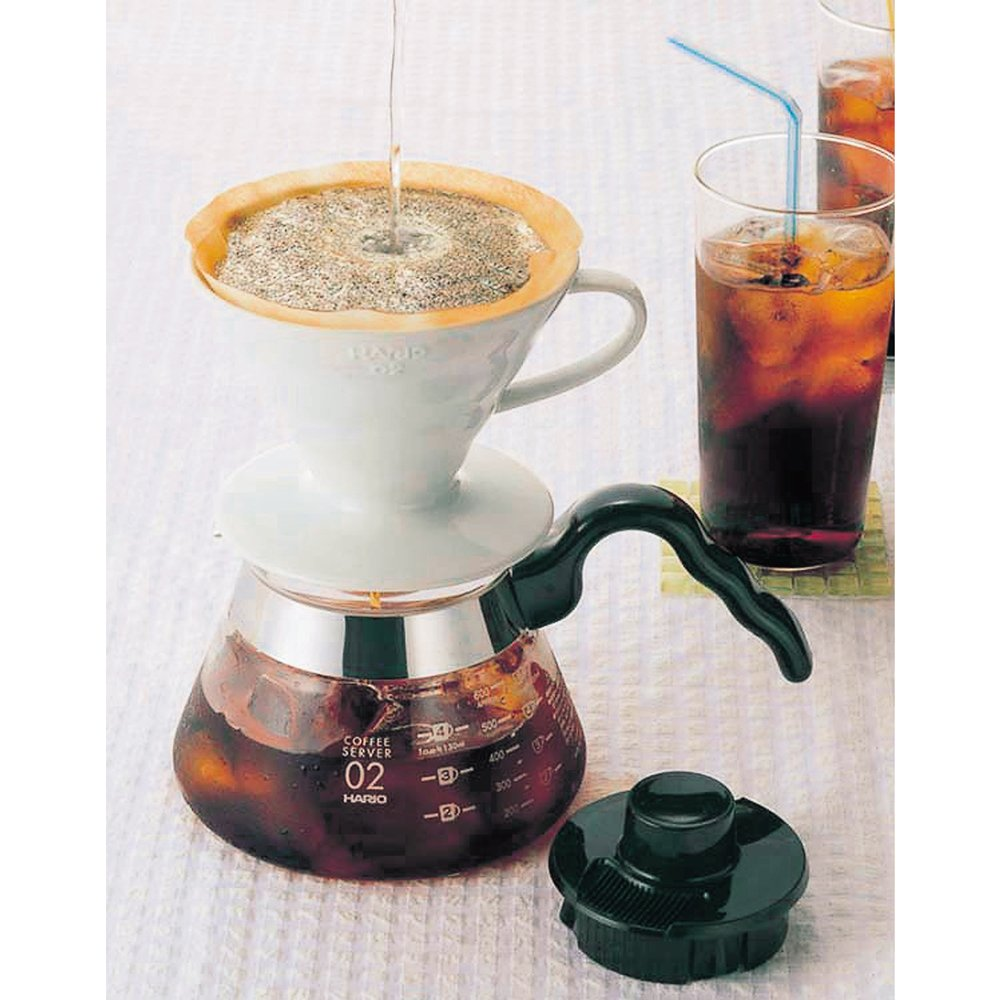 Hario Vdc 02w V60 Kaffeefilterhalter Porzellan Gre 2 1 4 Tassen Paper Filter Vcf 02 100mk Wei Kche Haushalt