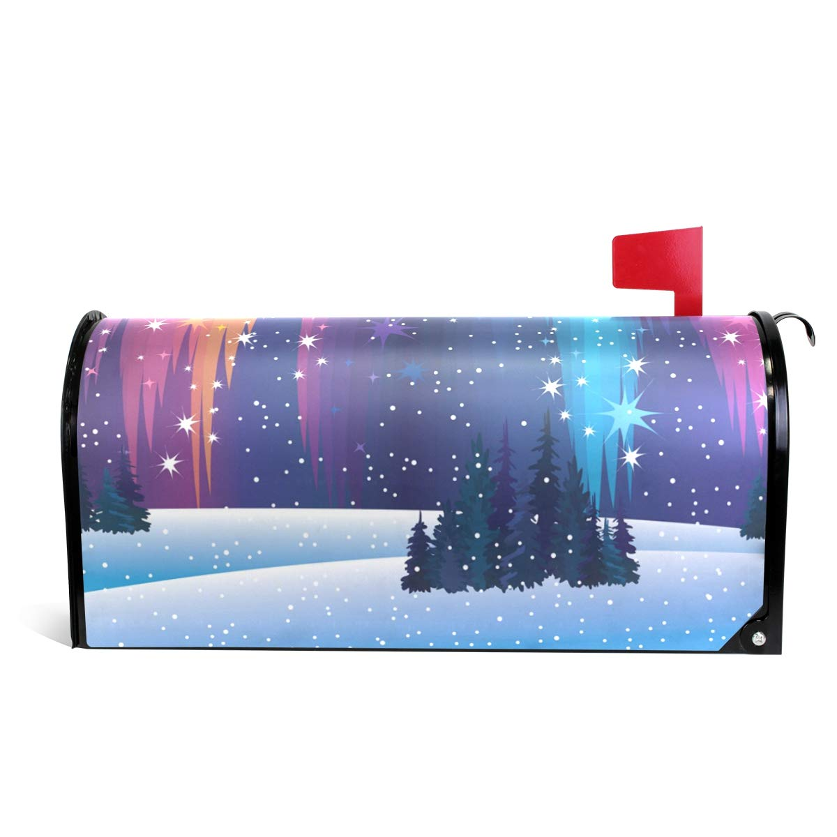 MAPOLO Northern Lights and Winter Nature Magnetic Mailbox Cover Oversized