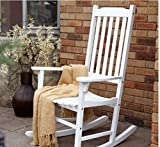 Coral Coast Indoor or Outdoor Mission Slat Rocking Chair White For Sale