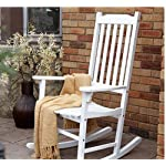 Coral Coast Indoor or Outdoor Mission Slat Rocking Chair White