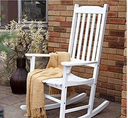 Pleasing Coral Coast Indoor Or Outdoor Mission Slat Rocking Chair White Creativecarmelina Interior Chair Design Creativecarmelinacom