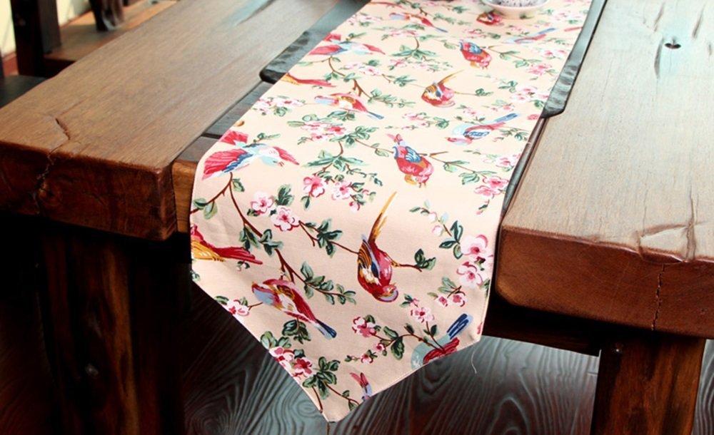 Simple fashion table flag Beige Krieger Lied Tanz Mode Tisch Tuch Flagge (größe : 30  200cm)
