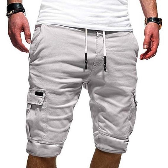 KJHSDNN Pantalones Cortos Hombre Shorts Deportes Pantalón Corto ...
