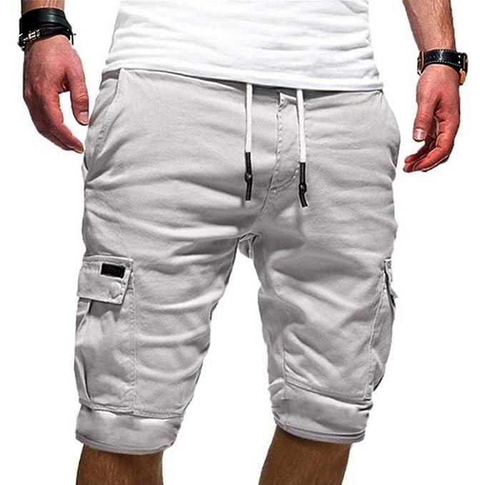 KJHSDNN Pantalones Cortos Hombre Chándal Verano Casual Shorts ...
