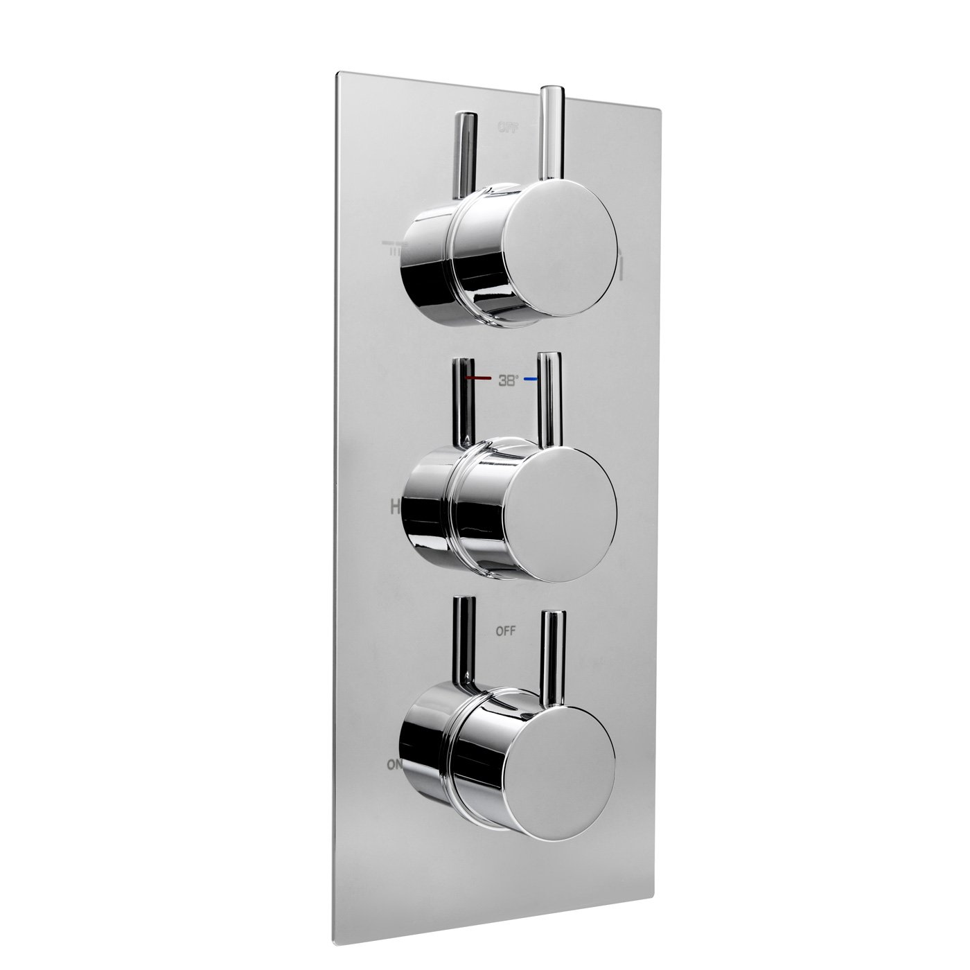 3 Way Chrome Concealed Thermostatic Mixer Shower Valve Brass Diverter  Outlet: IBathUK: Amazon.co.uk: Kitchen U0026 Home