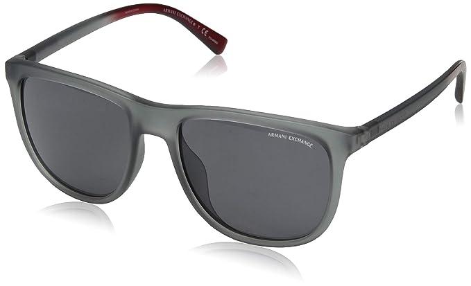 3393a0e594 Armani Exchange 0ax4078sf - anteojos de sol polarizadas cuadradas para  hombre (56,0 mm