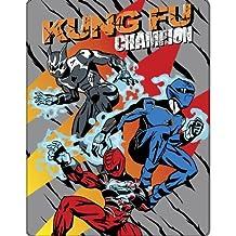 Enfant/Garçons Couvre-lit/couverture en polaire Power Rangers Jungle Fury, Polyester, gris, 120cm x 150cm