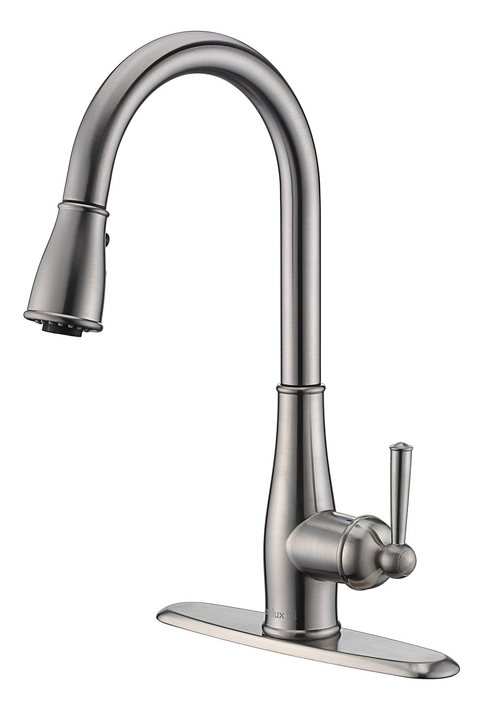 Purelux Aquablade Kitchen Faucet Classic Design Single Handle 3 Mode Kitchen Sink Faucets with Pull Down Sprayer, Brushed Nickel fits 1 or 3 Hole Installation