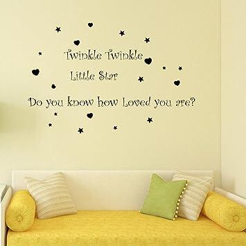 Amazon.com: Wall Stickers,GOODCULLER Twinkle Twinkle little Star ...