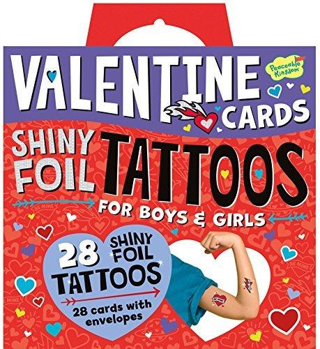 Peaceable Kingdom Valentine Shiny Foil Tattoo, 1 EA