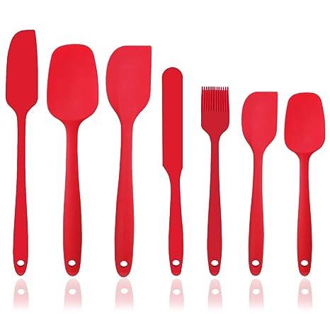Amazon.com: Juego de espátulas de silicona, 7 piezas ...