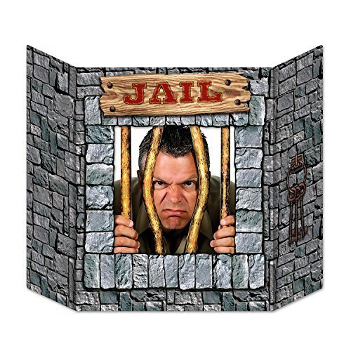 Beistle Jail Photo Property, 3-Feet 10-Inch by 25-Inch, Multicolor by Beistle