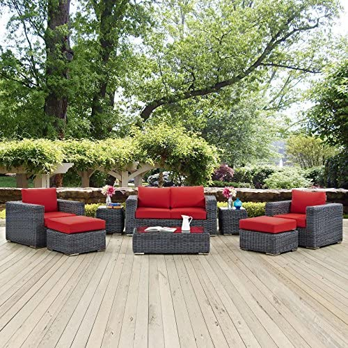 Modway Summon 8 Piece Outdoor Patio Dining Set