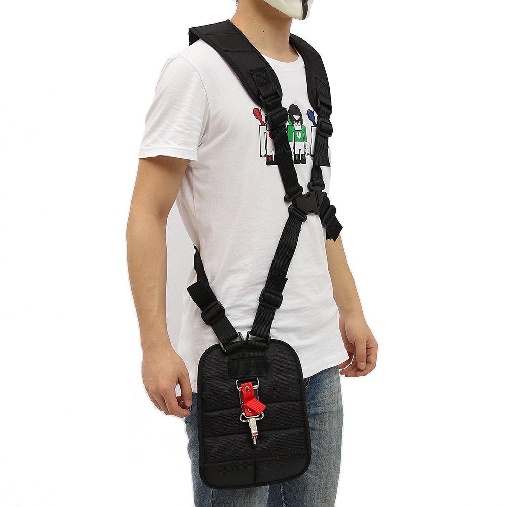 Grass Trimmer Double Shoulder Harness Strap Adjustable Black Nylon Harness Belt For Brush Cutter by Fovolat (Image #4)