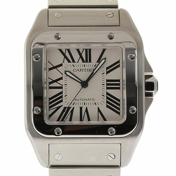 Cartier Santos 100 Swiss-Automatic Mens Reloj W200737G (Certificado) de Segunda Mano: Cartier: Amazon.es: Relojes