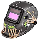 Solar Powered Welding Helmet Auto Darkening Professional Hood with Wide Lens Adjustable Shade Range (Alien Falcon)