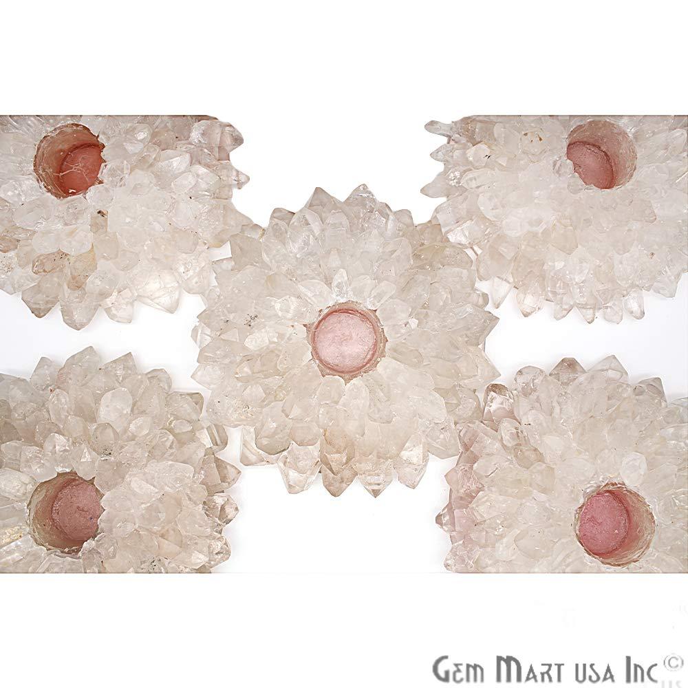 Crystal Tealight Holder, Candle Holder, Crystal Cluster, Home Decor, Point Candle Holder, GemMartUSA (CNDC-10002) by GemMartUSA (Image #2)