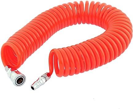 3 Meter Lang 8mm x 5mm Polyurethan Spiral Luft Schlauch Schlauch Orange