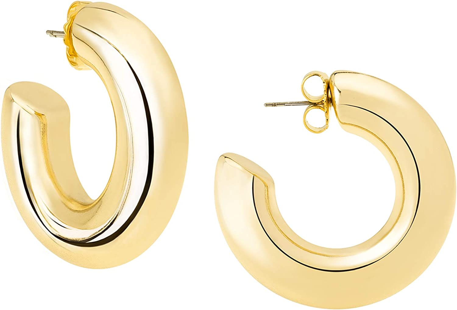 JANIS BY JANIS SAVITT High Polished Medium Hoop Earrings