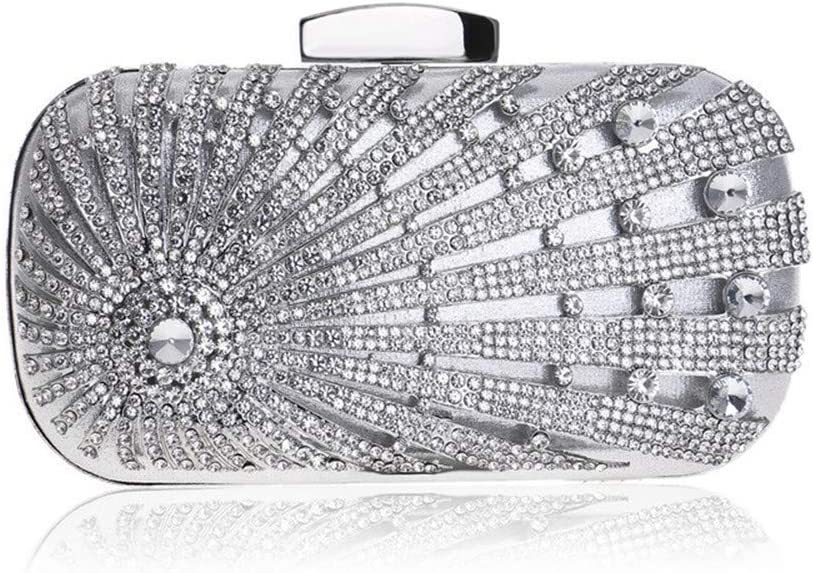 Clutches Bag for Women Formal Clutch Purse Crystal Evening Handbag Bags for Women Wedding Evening (Color : C) B