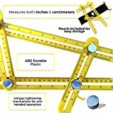 Picture of Multi Angle Measuring Ruler Best General Measurement Tool for Accurate Measurements Metal knobs for Durable Performance Preferred by Builders and Carpenters