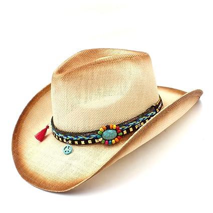 Sombrero- Vaquero Occidental Hecho a Mano de Las Mujeres de la Paja de la  Armadura 35c049826a3